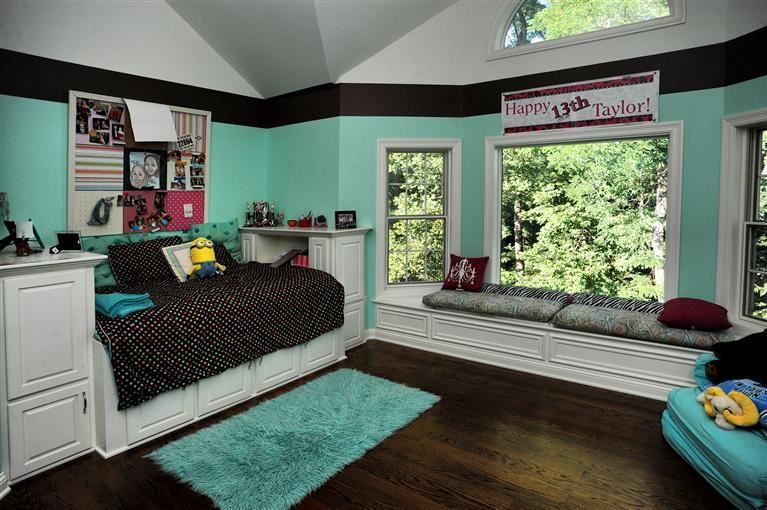 The Perfect Teenu0027s Bedroom With Pastel Blue Walls And Large Windows. #teen # Bedroom
