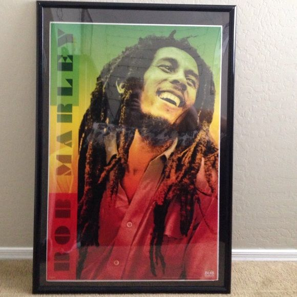 Bob Marley poster. Poster 24\' x 36\'. Frame 28\'x41\' Bob Marley poster ...