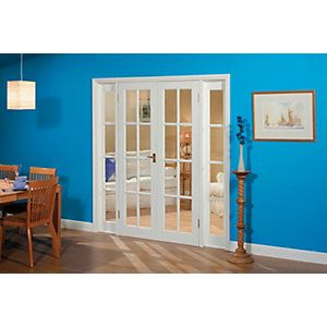 Exciting wooden french doors wickes gallery exterior ideas 3d wickes newland internal french doors with demi panel pine glazed 8 planetlyrics Gallery