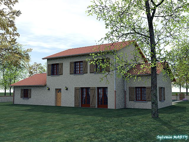 Maison de 184 m² habitable - Vue 1 Surface au sol  178 m²