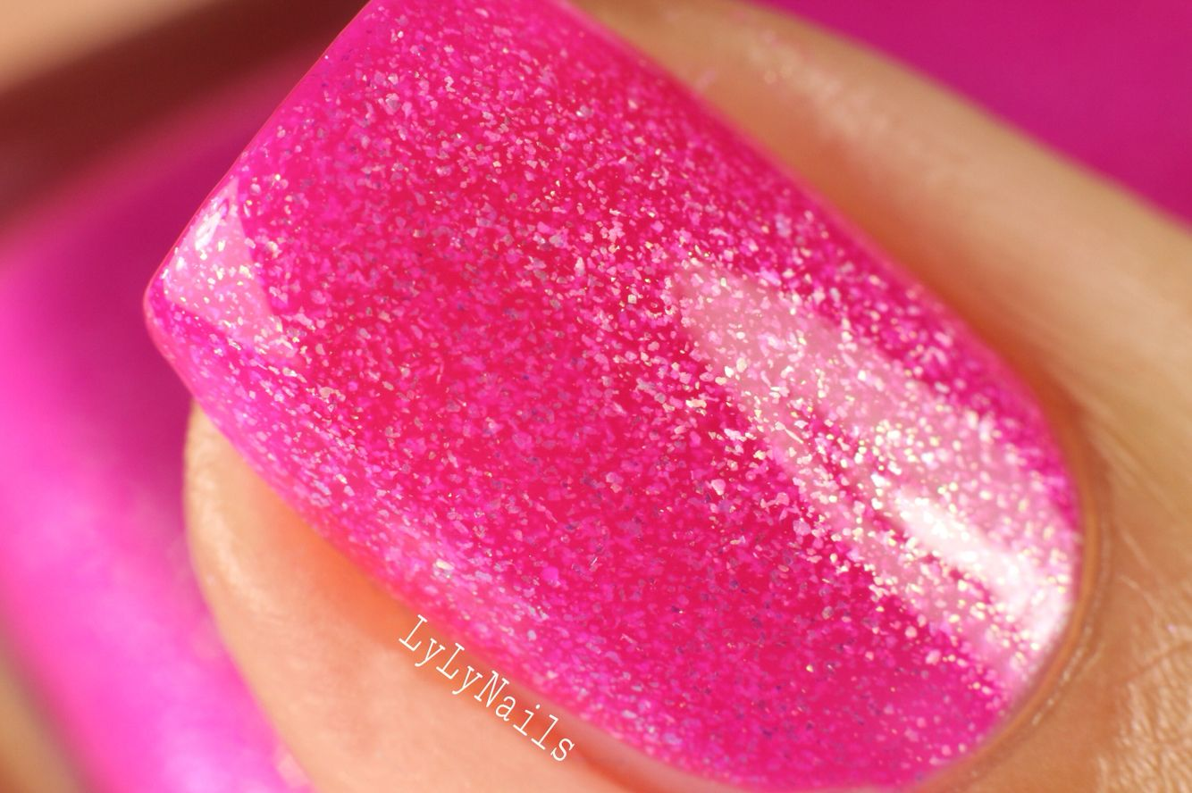 Pink Flamingo by Top Shelf Lacquer releasing July 15. Www.topshelflacquer.com Swatch by Lylynails