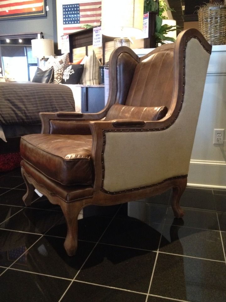 A wing chair that is fit for a king! #mancave #accentchair ...