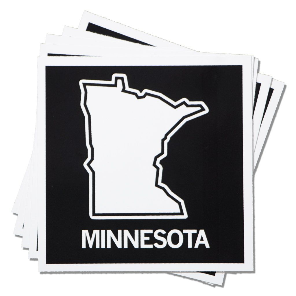 Minnesota Outline Sticker Minnesota Outline Minnesota