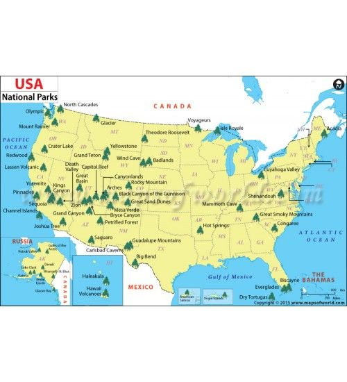 Buy Map of United States National Park