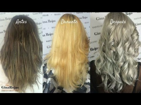Tutorial Cabello Gris Silver Hair Decoloracion Paso A Paso