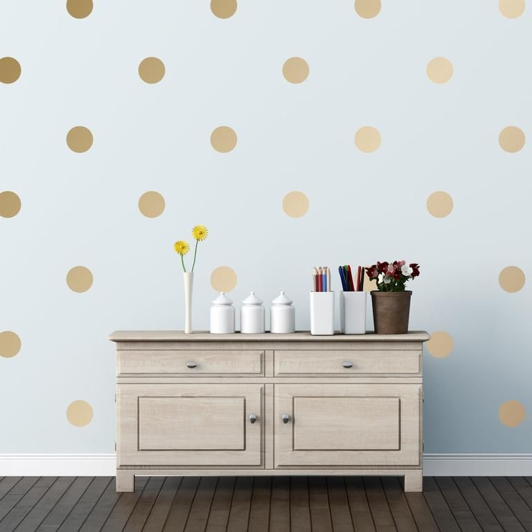 """Polka Dot Wall Decals is part of Gold Home Accessories Polka Dots - Remember holepunching a million little confetti circles out of notebook or construction paper as a kid and throwing them in the air  Now you can have your very own wall confetti with these delightful polka dots  Available in four sizes and 25 colors, it's not hard to get the desired look you want  Go big and bold with our 6"""" dots or more whimsical with our popular 2"""" confettilike dot  2"""" """"Confetti"""" Polka Dots Sheet includes 72 dots 3"""" Polka Dots Sheet includes 32 dots 4"""" Polka Dots Sheet includes 18 dots 6"""" Polka Dots Sheet includes 8 dots  Design Tip Order multiple packs in different colors to create multicolored designs"""