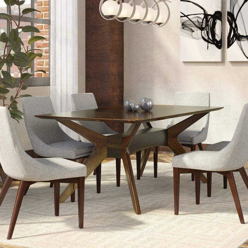 Langley Street Selena Solid Wood Dining Table Reviews Wayfair Dining Room Design Dining Table Oval Table Dining