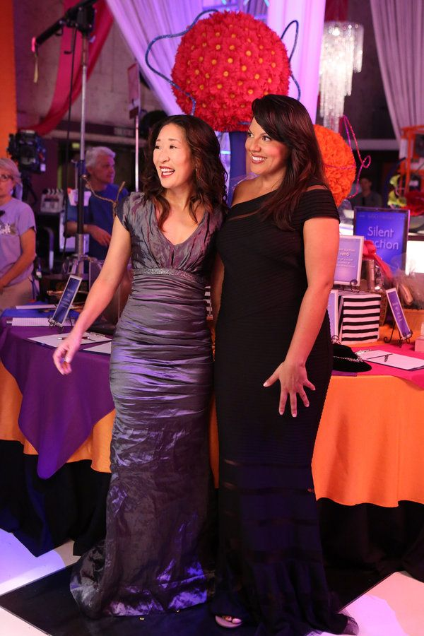 Christina And Callie In Beautiful Gowns Greys Anatomy Episode