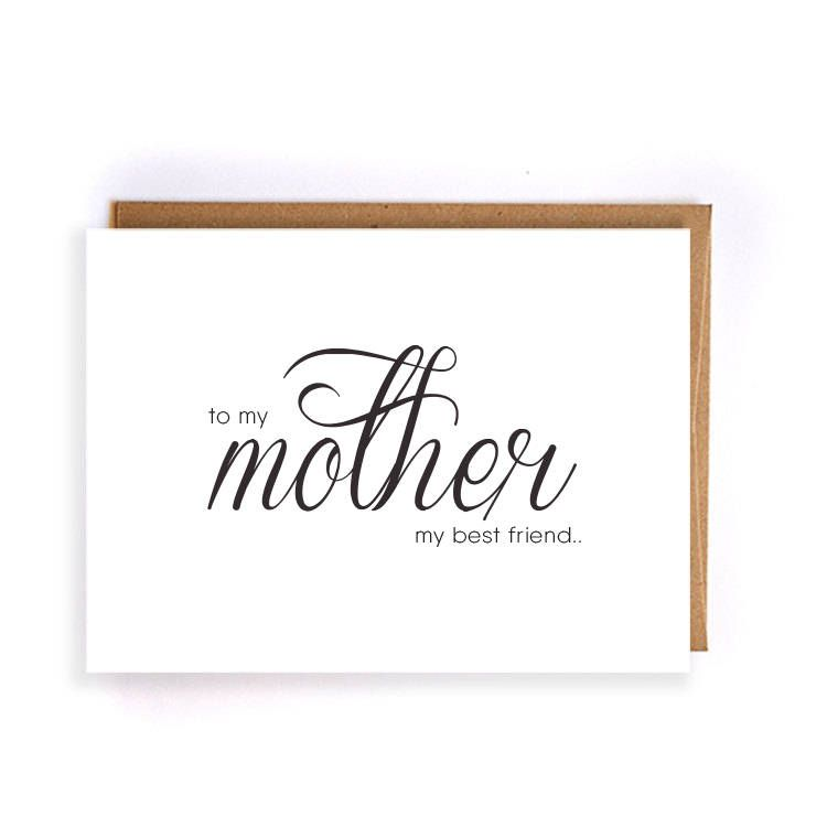 To my mother my best friend, custom wedding greeting, mother ask