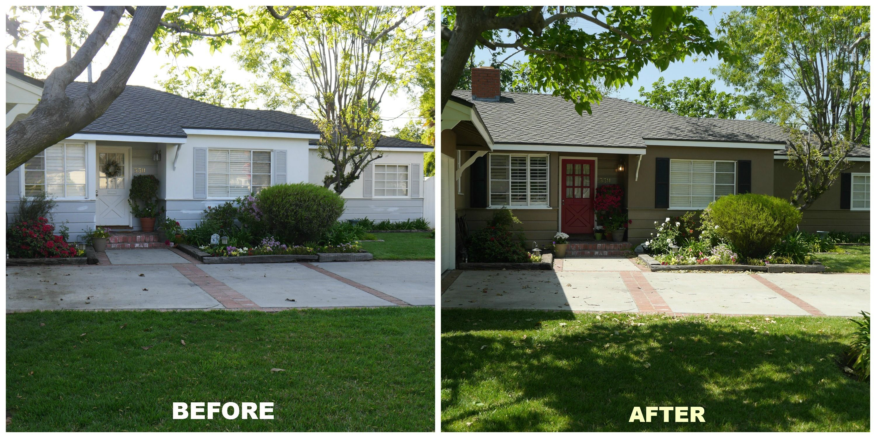 Home Exterior Before And After Simple With Photos