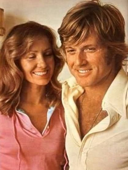 Robert Redford With His First Wife Lola Mother Of Their Four