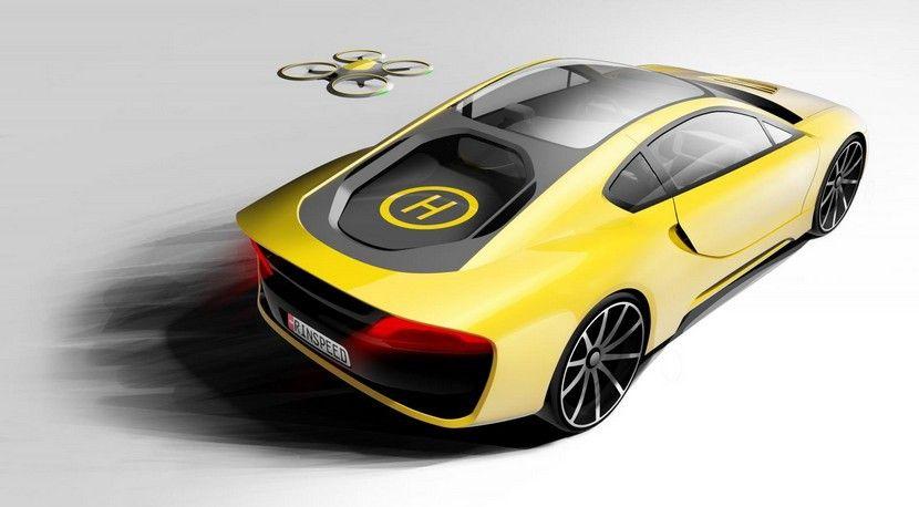 Rinspeed Etos, un concepto autónomo basado en el BMW i8 con drone integrado - http://www.actualidadmotor.com/rinspeed-etos-un-concepto-autonomo-basado-en-el-bmw-i8-con-drone-integrado/