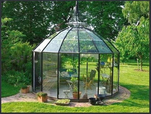 amazing styles of glass gazebo for your home idg gazebo greenhouse shed pinterest. Black Bedroom Furniture Sets. Home Design Ideas