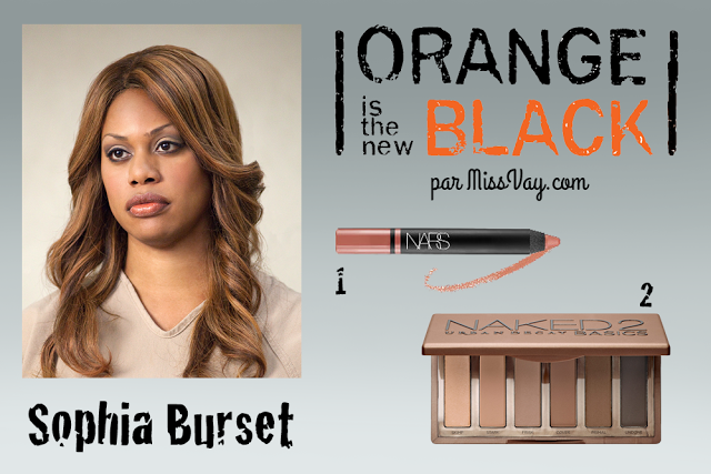 SOPHIA BURSET -- Makeup inspiration / Inspiration maquillage : Orange is the New Black http://www.missvay.com/2015/07/inspiration-maquillage-orange-is-new-black.html #oitnb #OrangeistheNewBlack #makeup