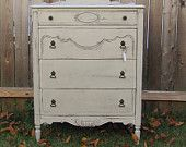 Vintage, painted chest of drawers.