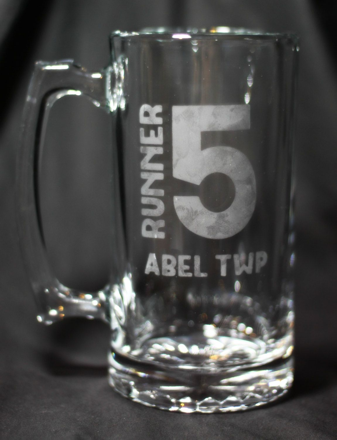 Runner 5 (Zombies, Run!) 20oz Hand Etched Beer Mug by