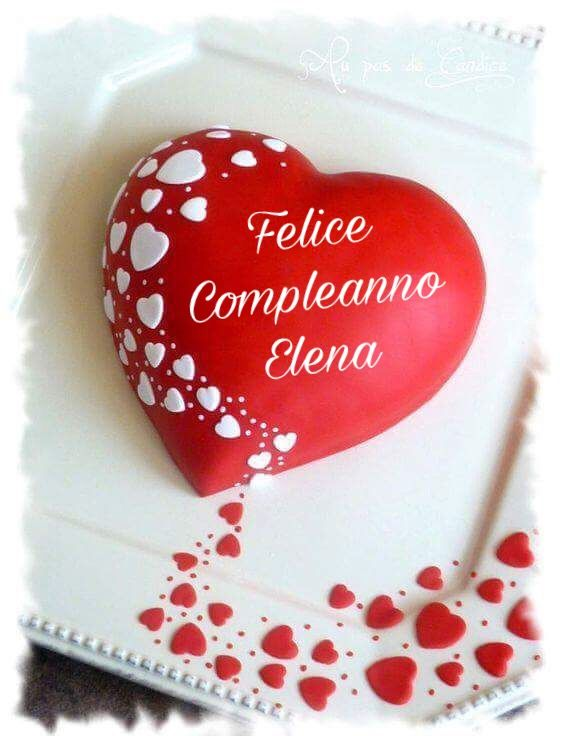 Buon Compleanno Elena Torte Cupcake Torta Fondant Torte
