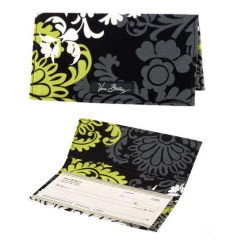 Snaptotes Black Antler Design Personalized Monogram Checkbook Cover