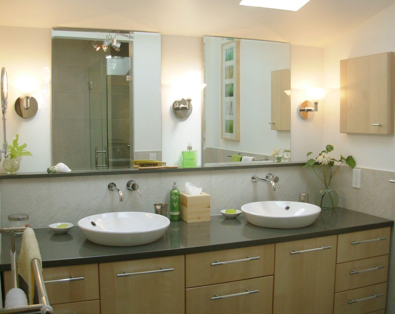 Image Of Double Sink Bathroom Vanity with Vessel Sinks StylesHouse
