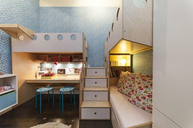 Idée déco chambre : la chambre enfant partagée mezzanine bedrooms