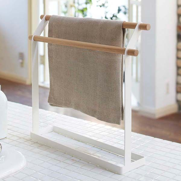 Towel Rack Stand Stand Dishcloth Cloth Hanger Hook Towel Hanger Dishcloth Dishcloth Over Natural Wood Wooden Kitchen Storage Convenient Fashionable Stylish