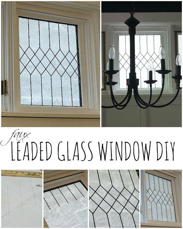Faux Leaded Glass Window Tutorial Diy Ideas Faux