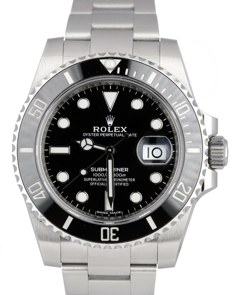 2019 MINT UNPOLISHED Rolex Submariner Date 116610 40mm Stainless Black Ceramic #rolexsubmariner