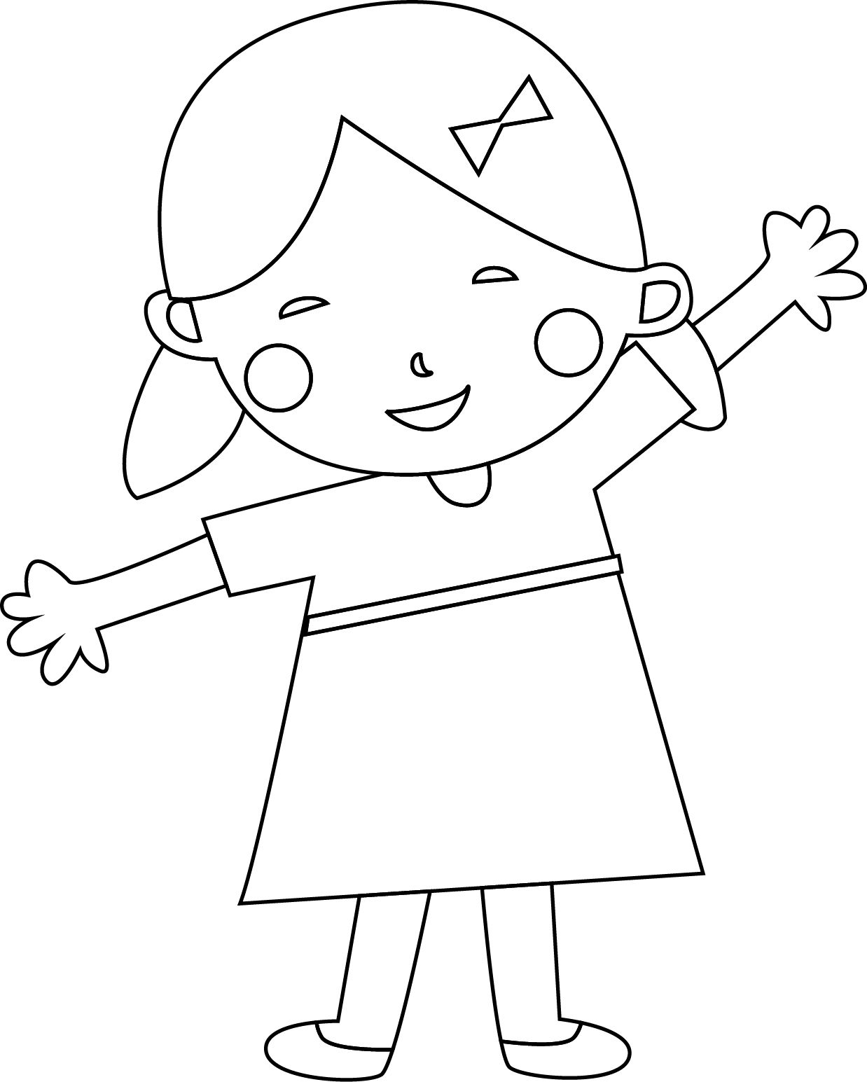 Child Coloring Page | Child