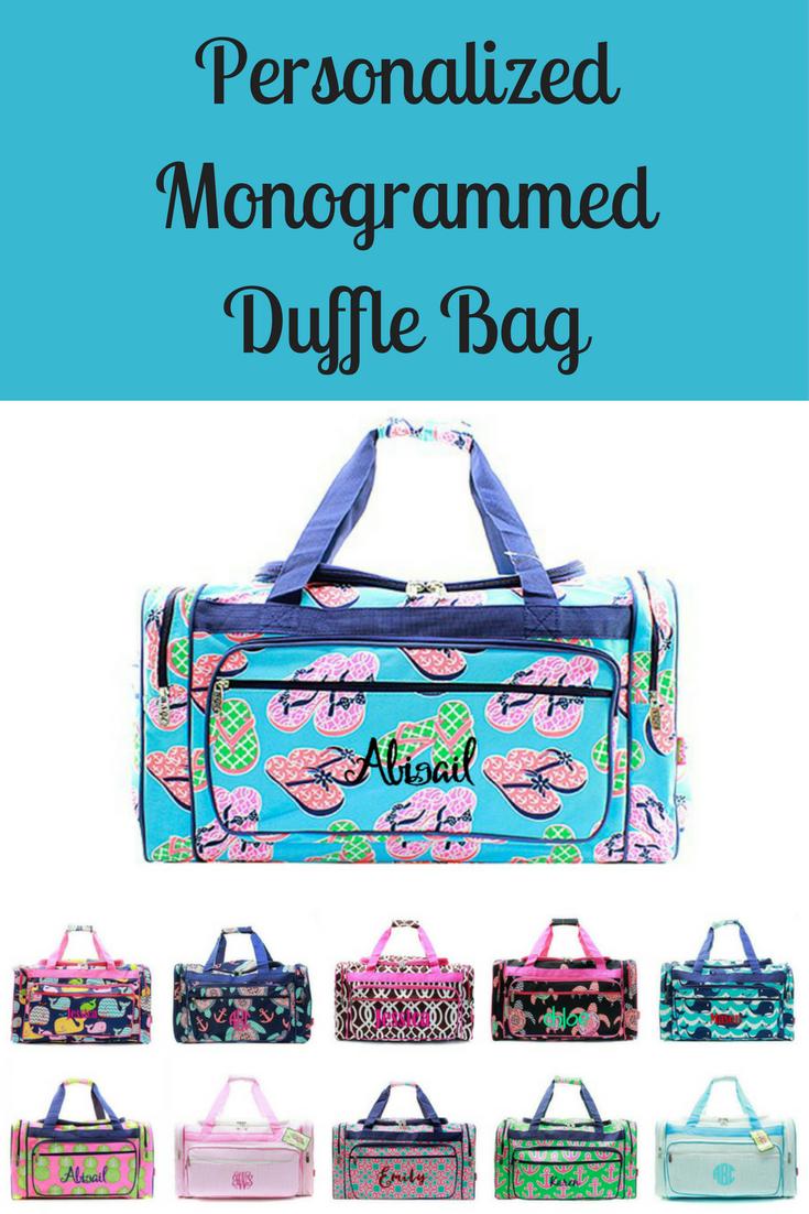 f11e85e6aae Monogrammed Large Kids Duffle Bag 23
