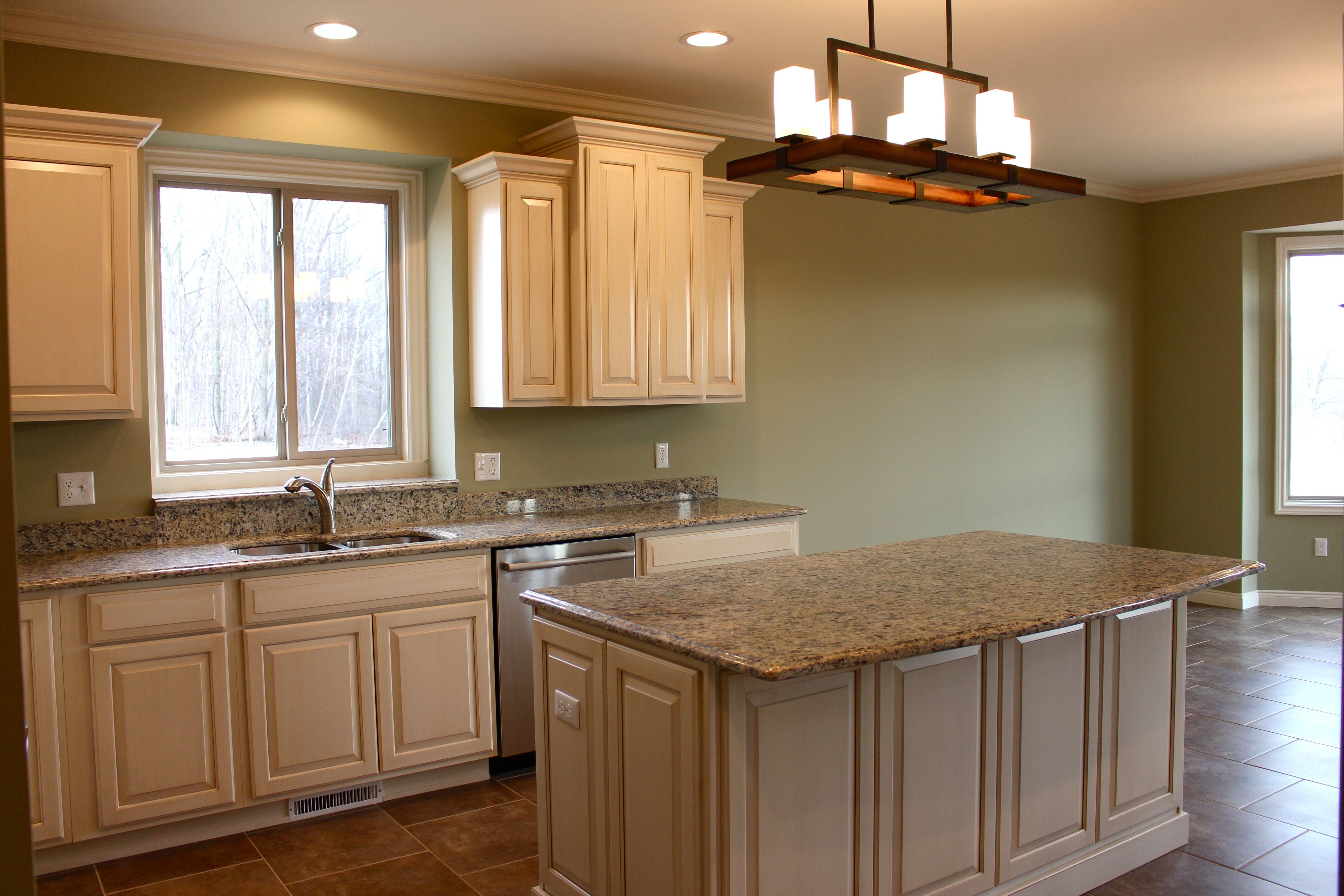 Cabinets By Lafata: Jamestown, Maple, Latte   Counter Tops: Santa Sicilia