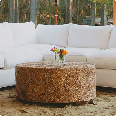 Ooh! Events Rentals Circle Ottoman $75 | Wedding - Furniture | Pinterest
