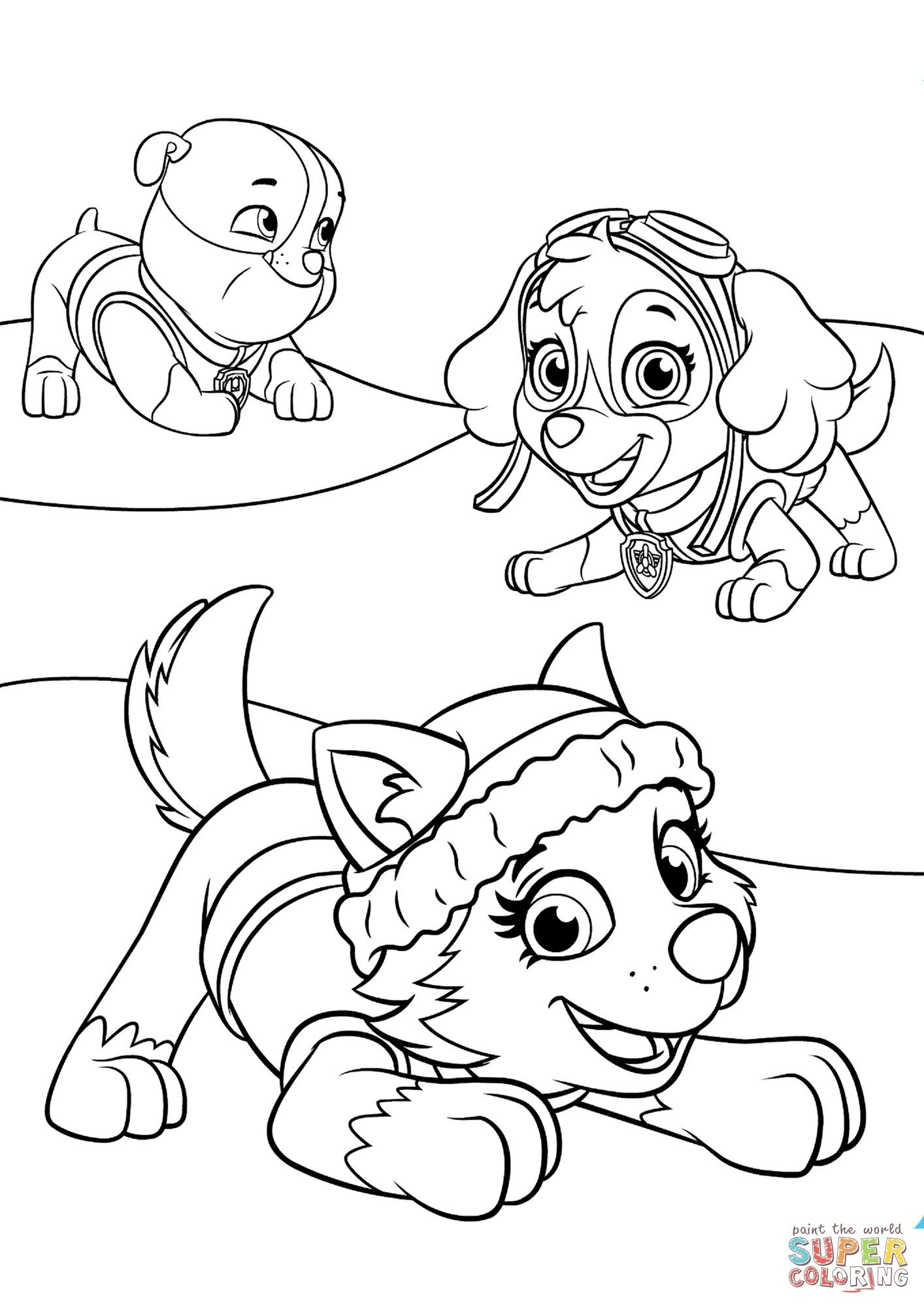 smart inspiration paw patrol coloring pages printable