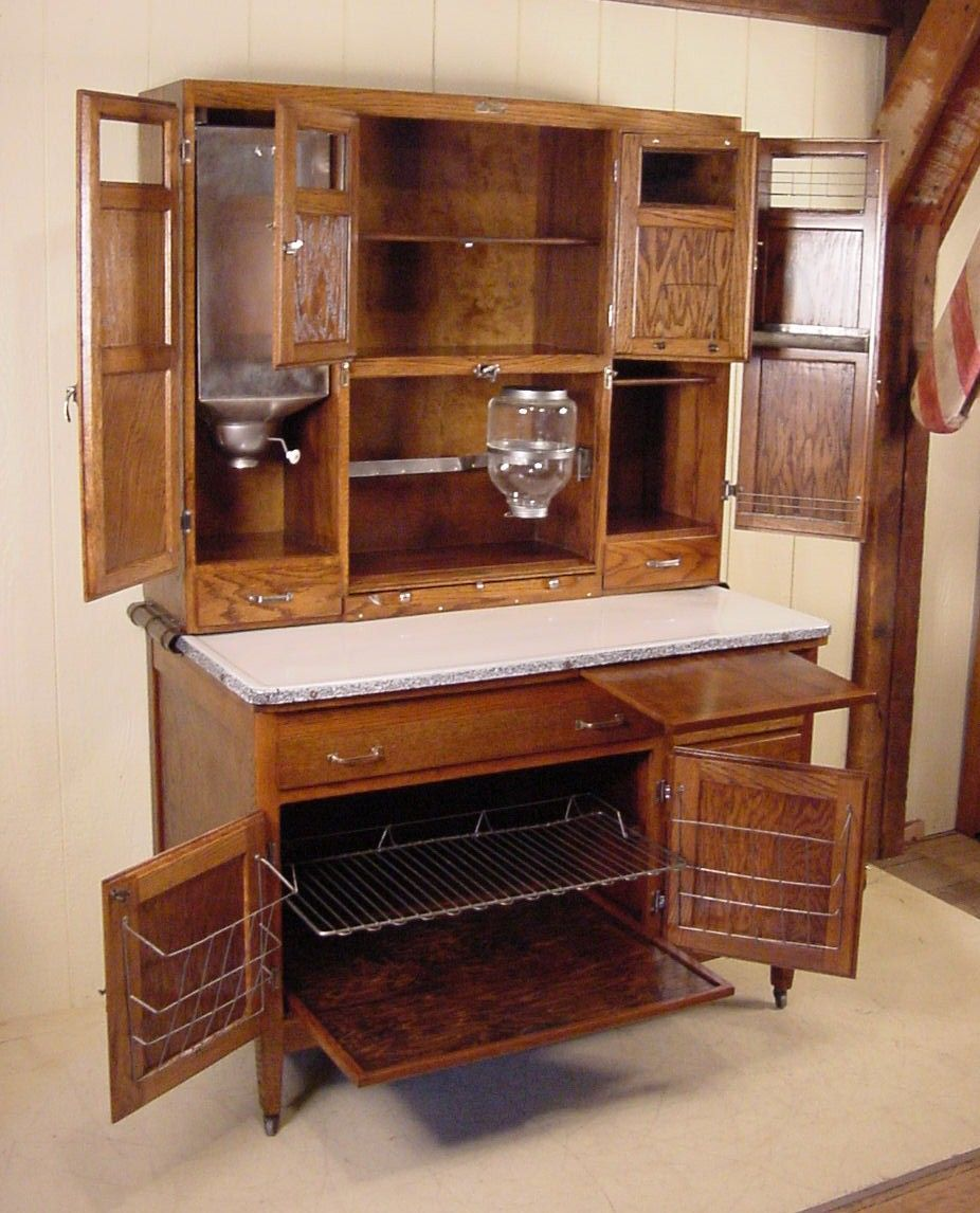 Best Oak Hoosier Cabinet Signed Mcdougall Would Love To 640 x 480