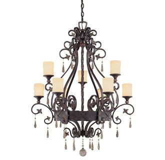 Tracy porter by savoy house 1 714 9 tuscan nine light up lighting tracy porter by savoy house tuscan nine light up lighting two tier chandelier featuring patina swirl crystals from the ayelet collection aloadofball Image collections