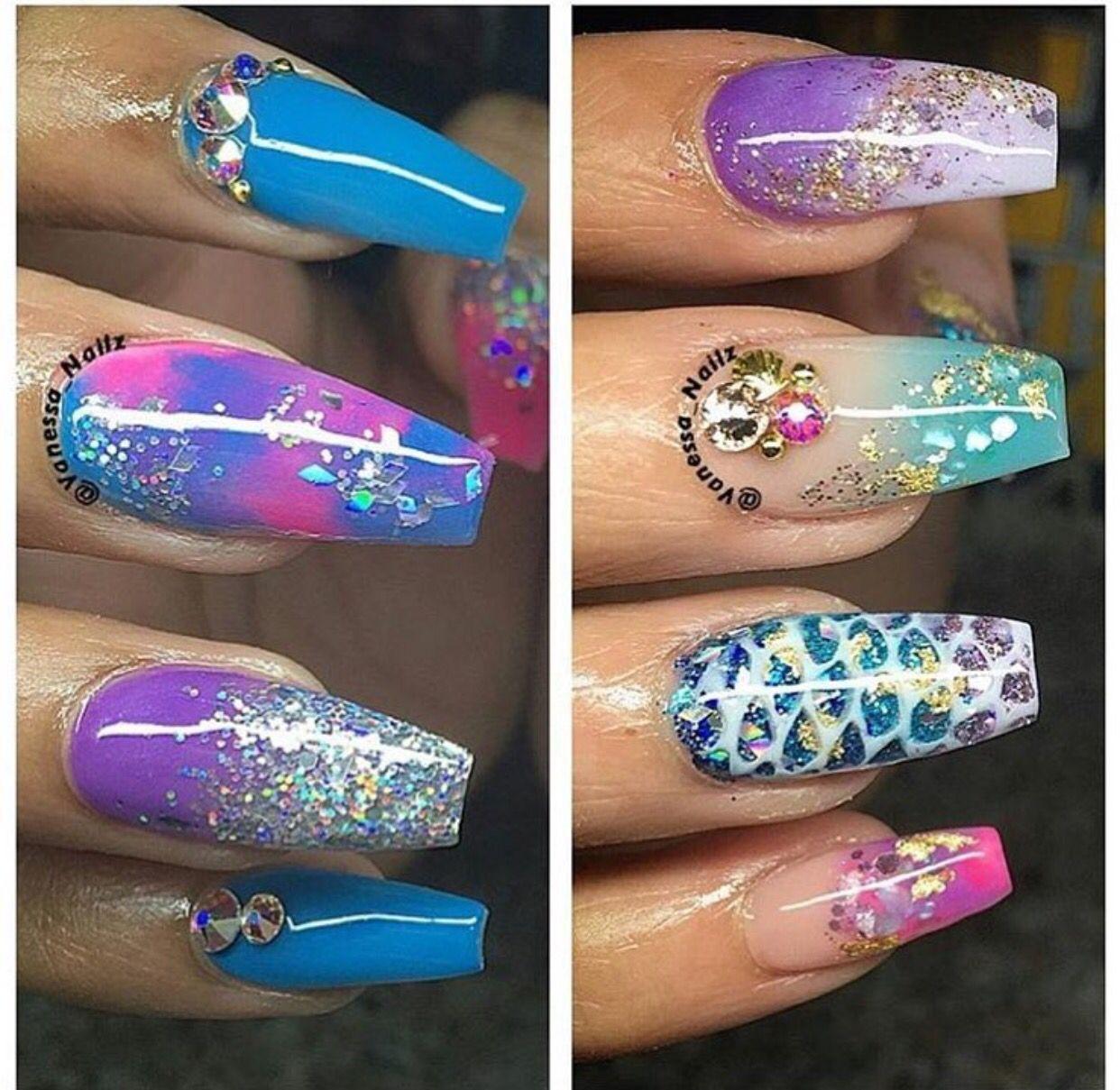 @xoxo_marielaaa in 2020   Pretty acrylic nails, Green