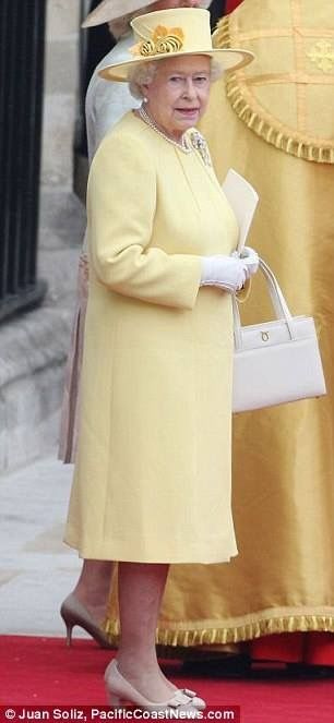The Queen at the wedding