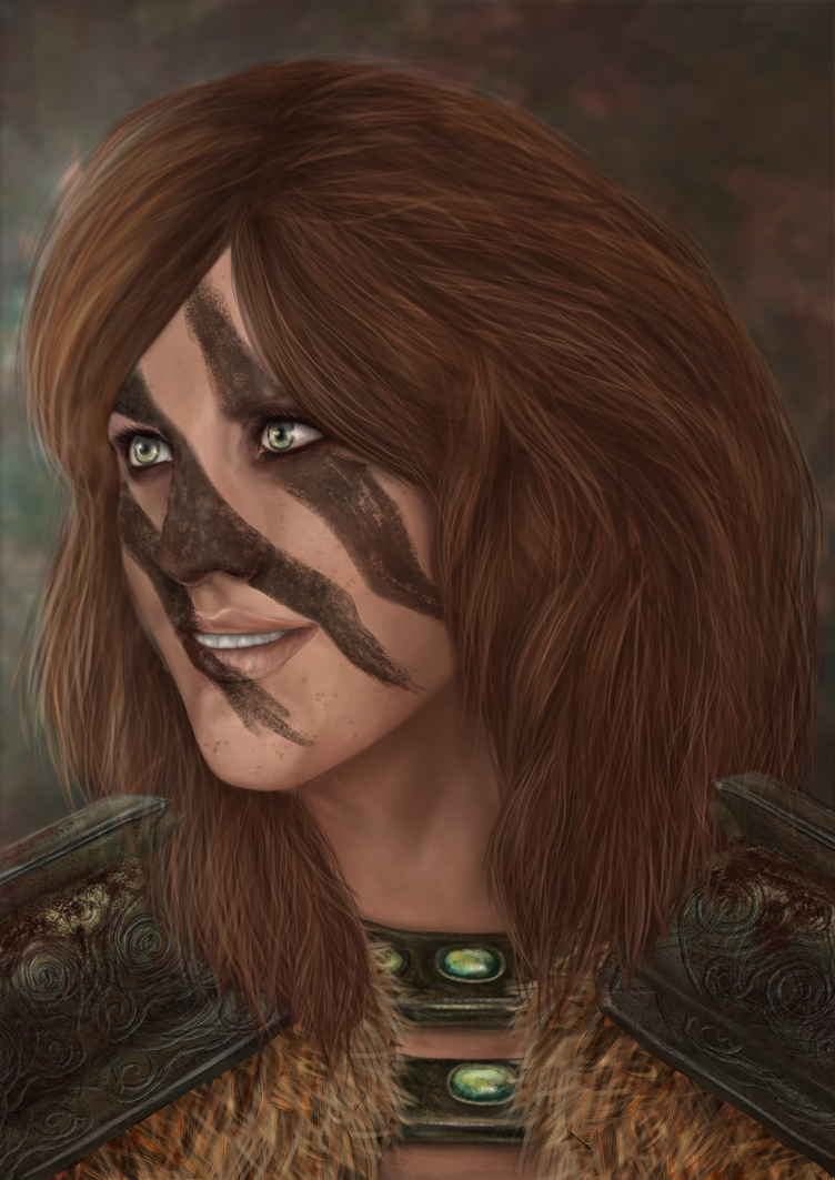 Aela the huntress by Cadkinn on DeviantArt