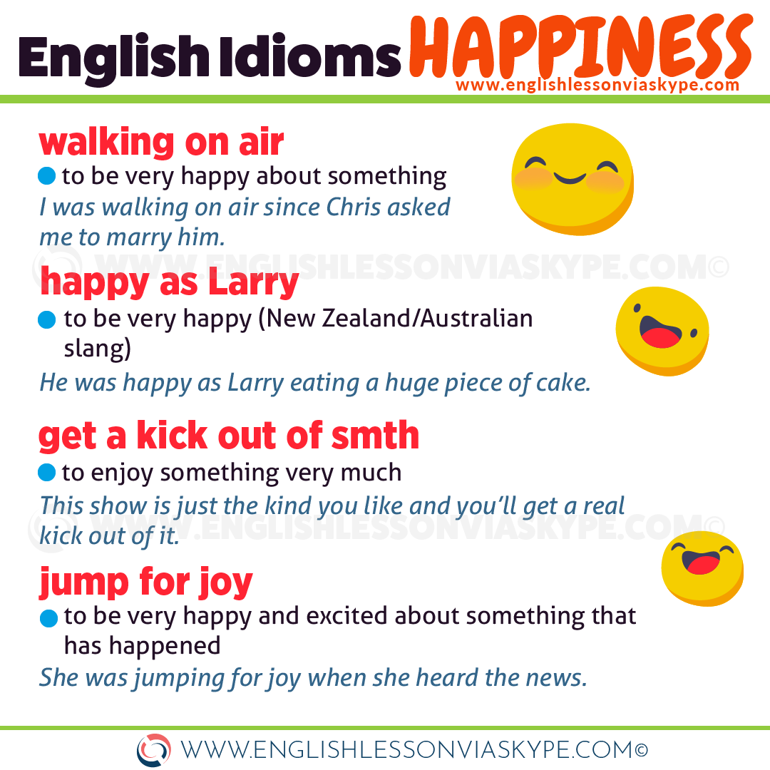 English Idioms Related To Happiness And Sadness English With Harry English Idioms English Vocabulary Words Learning English Vocabulary Words