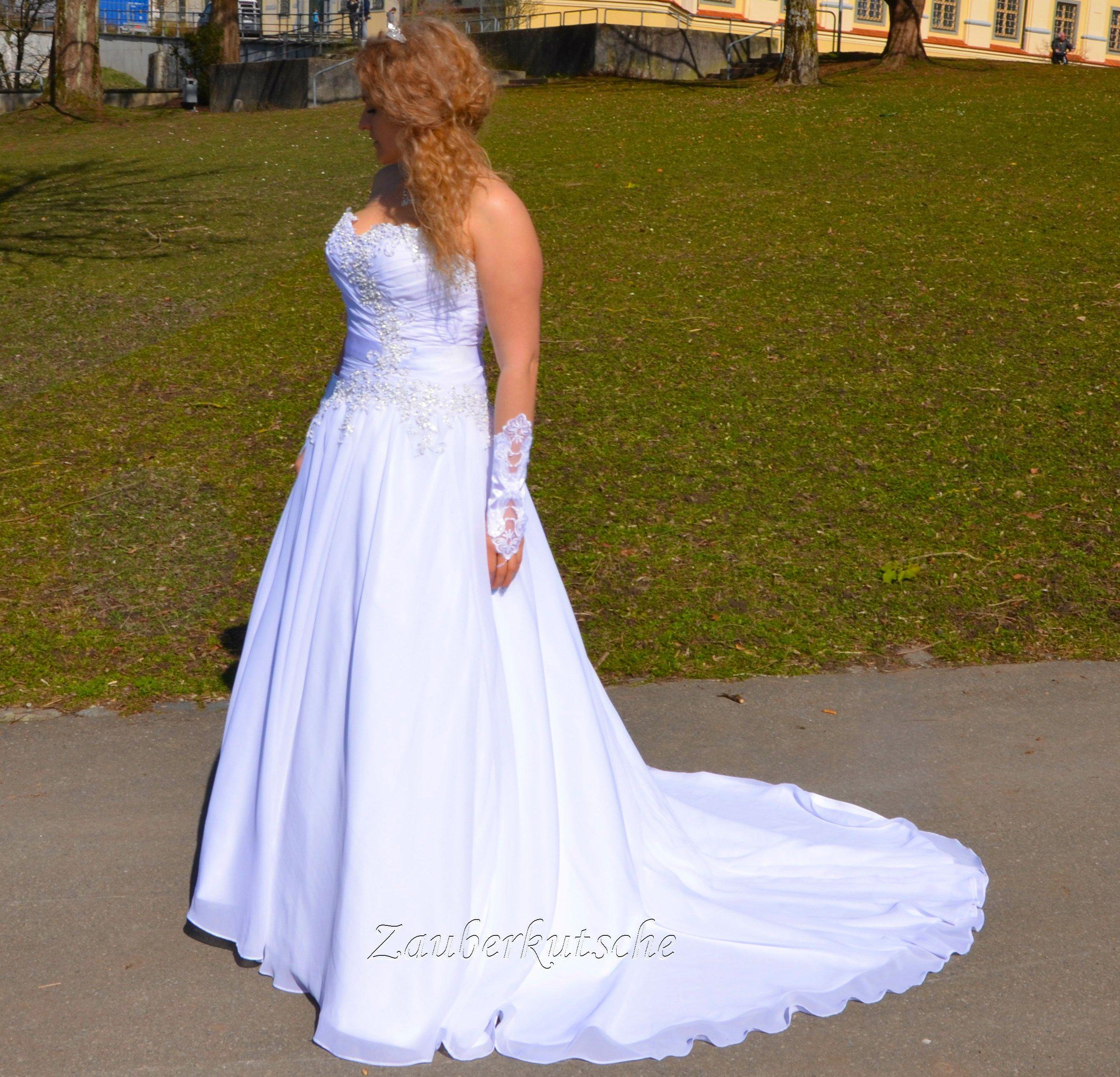 Luxus Brautkleid Hochzeitskleid A-Linie Maßanfertigung Braut Perlen ...