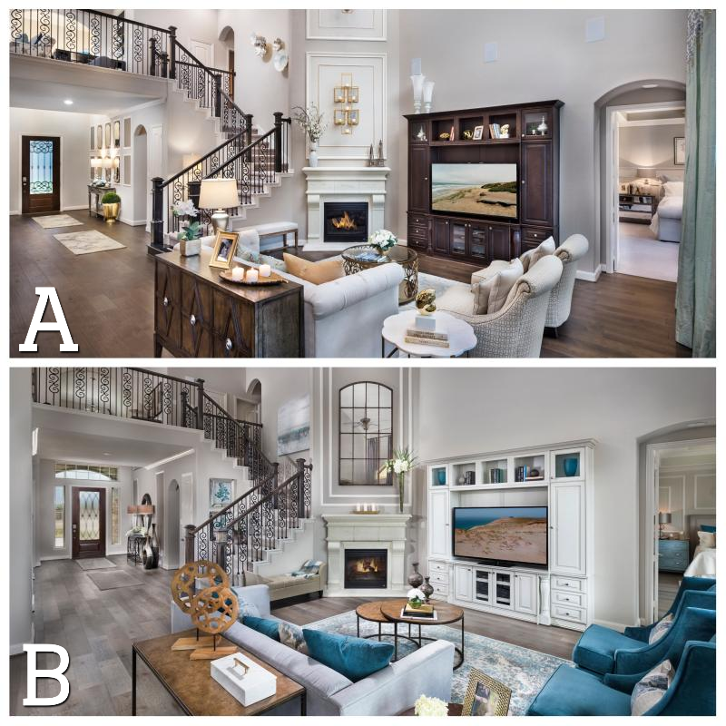 Same Living Space Different Decor Which One Do You Like More