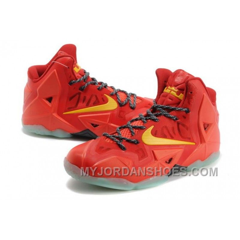 wholesale dealer fb8fb 9a96d Nike LeBron 11 Team Orange Tour Yellow Bx3k4