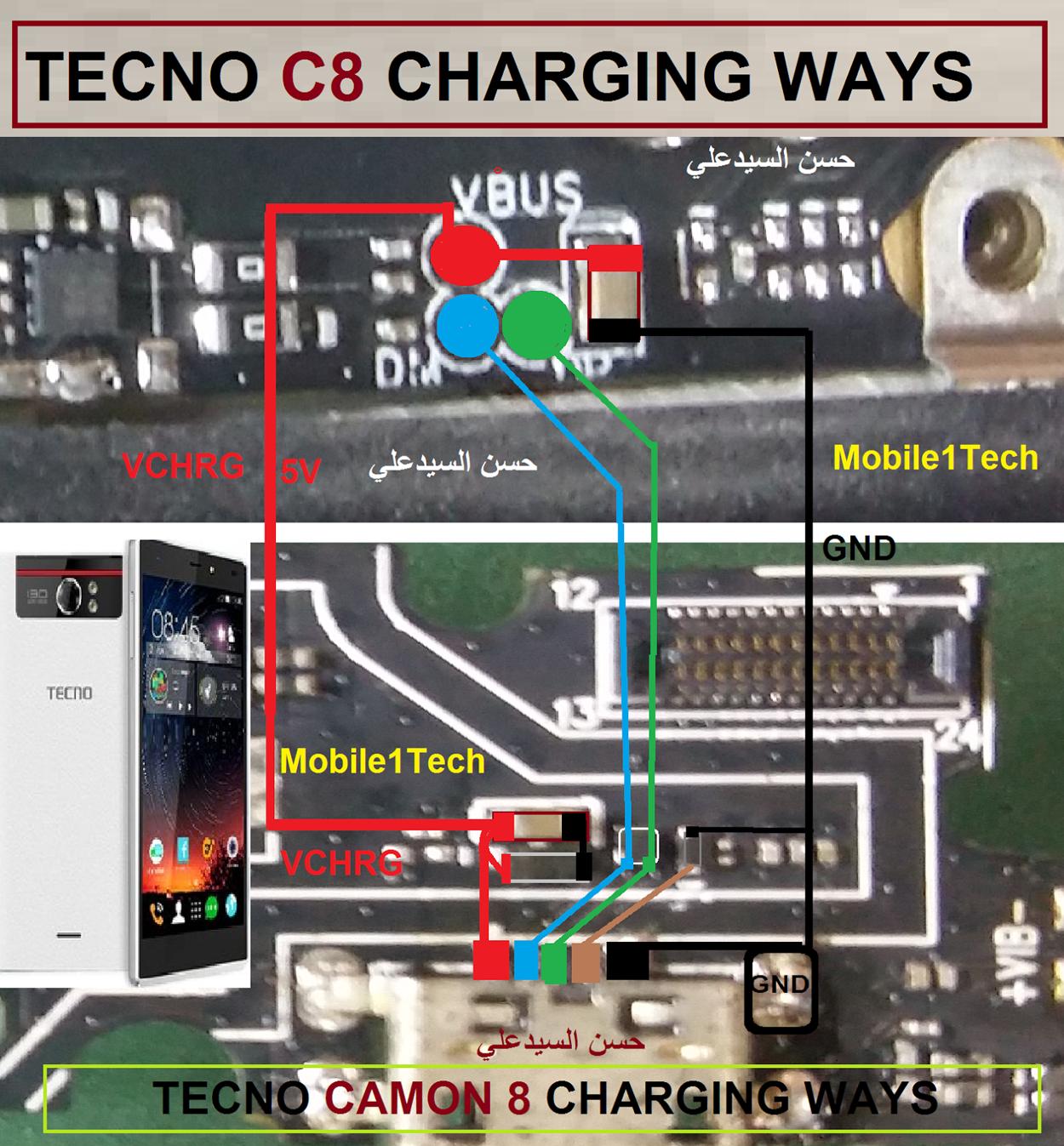 Tecno Camon C8 Charging Solution Jumper Problem Ways | Jumper