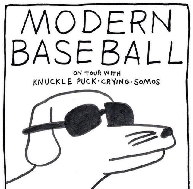 Modern Baseball Tour Poster Tour Posters Modern Pop Punk