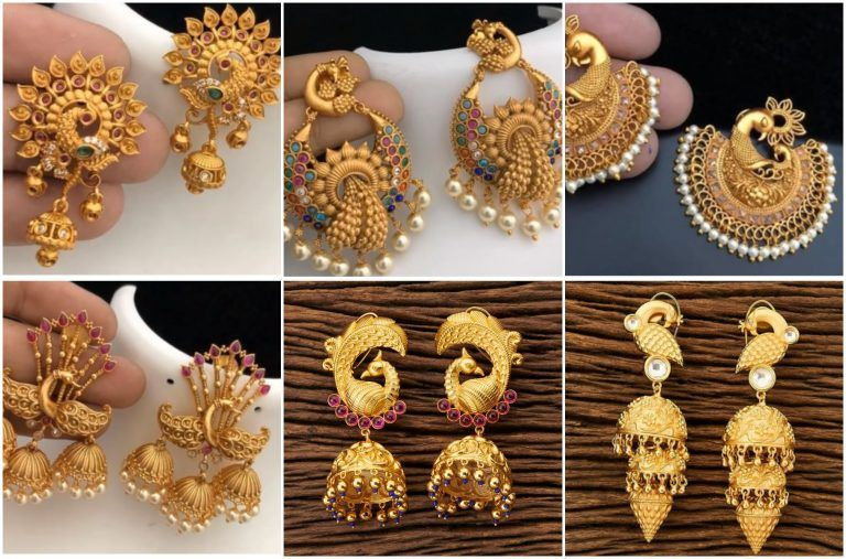 Latest Gold Earrings Designs 2020 In 2020 Gold Earrings Designs Gold Earrings For Women Spring Jewelry Trends