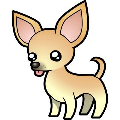 Image result for smoothed haired chihuahua clipart