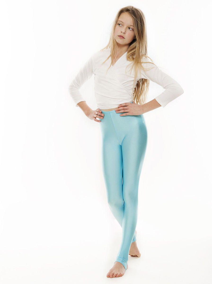 Children Girls Stirrup Leggings Dance Gymnastics Kids Shiny Nylon Lycra Legging