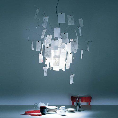 a unique paper chandelier.Want it!