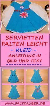 💘 Serviettenfaltanleitung Kleid 👈 - #Anleitung #Falten #Kleid #Servi ... #serviettenfalteneinfach