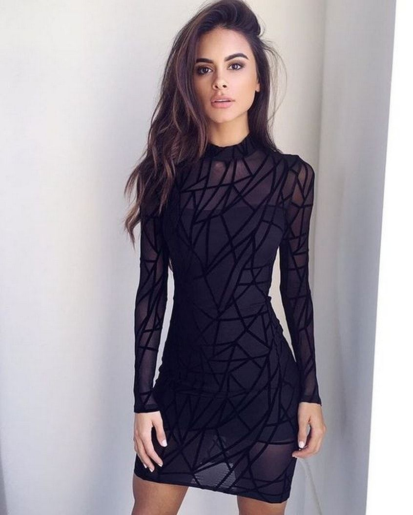 black dress sophia | Sophia Miacova | Pinterest