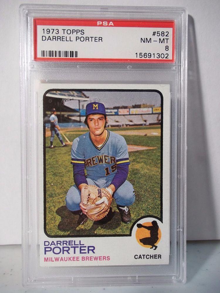 1973 Topps Darrell Porter PSA Graded NMMT 8 Baseball Card